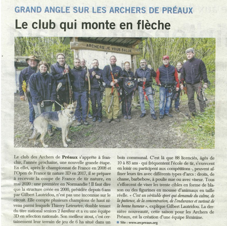 Article Paris-Normandie 17/04/2019